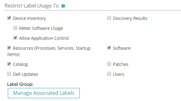 Screenshot 2 - Appcontrol Label Details